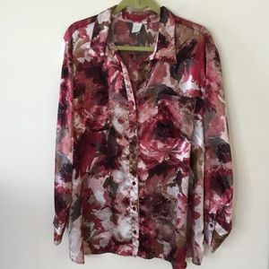 Jones NY floral button down blouse. 3x